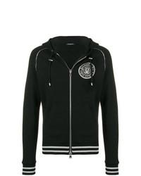 bb07bb9c Men's Black and White Print Hoodies by Balmain   Men's Fashion ...