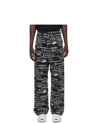 Balenciaga Black And White Tv Logo Jeans