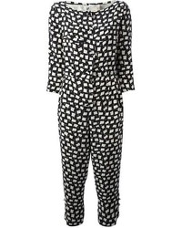 638b900ed3b Women s Black and White Print Jumpsuits from farfetch.com
