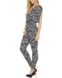 Arden b contrast print surplus jumpsuit medium 54745