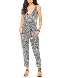 ChicNova Sleeveless Pattern Print Jumpsuit
