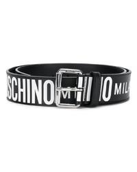 Moschino All Over Logo Belt