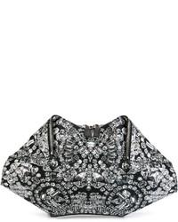 Alexander McQueen De Manta Diamond Print Clutch