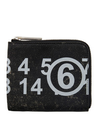 MM6 MAISON MARGIELA Black Logo Zip Coin Purse