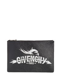 Givenchy Medium Icon Faux Leather Print Pouch