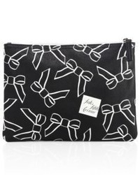 Saks Fifth Avenue Collection Large Saffiano Faux Leather Bow Pouch
