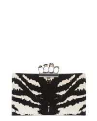 Zebra print knuckle clasp clutch medium 8685185
