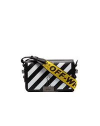 Off-White Black And White Diagonal Stripe Mini Shoulder Bag