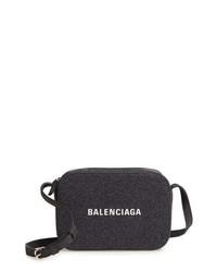 Balenciaga Large Everyday Glitter Calfskin Camera Bag