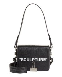 Off-White Sculpture Leather Flap Bag