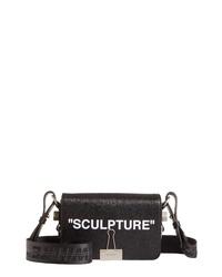 Off-White Sculpture Leather Mini Flap Bag
