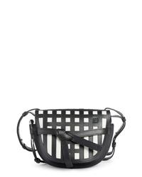 Loewe Small Gate Grid Leather Crossbody Bag