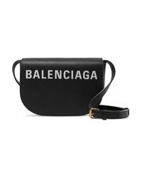 Balenciaga Ville Day Xs Aj Printed Textured Leather Shoulder Bag