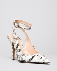 Kate Spade New York Pointed Toe Ankle Strap Pumps Luminous High Heel
