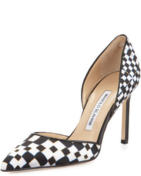 Tayler printed pointed dorsay pump blackwhite medium 405772