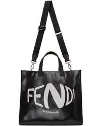 Fendi Black Fish Eye Logo Tote