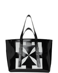 Off-White Black Leather Arrow Tote