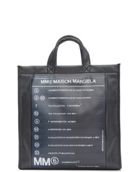 MM6 MAISON MARGIELA Black Logo Backpack Shopper Tote