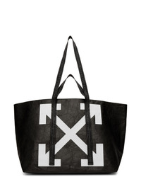 Off-White Black Wrinkled Arrows Commercial Tote