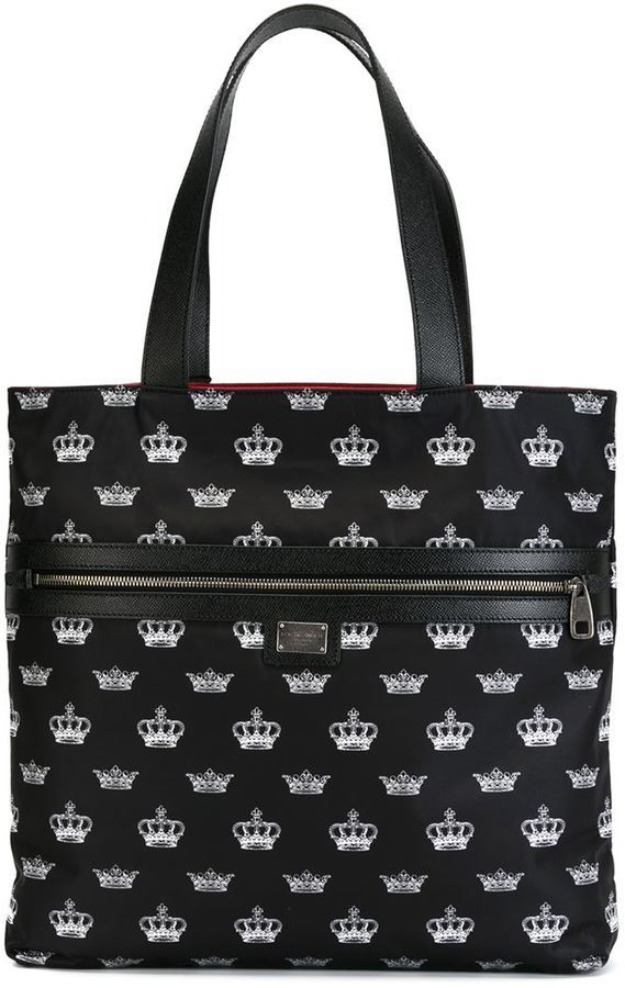 dolce gabbana crown print tote where to buy how to wear