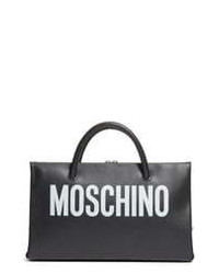 Moschino Small Calfskin Leather Shopper Clutch
