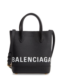 Balenciaga Ville Logo Leather Tote