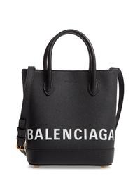 Balenciaga Ville Logo Leather Tote