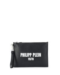 Philipp Plein Textured Clutch Bag