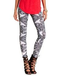 Charlotte Russe Cotton Paisley Printed Leggings