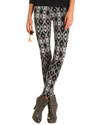 Charlotte Russe Cotton Tribal Printed Leggings
