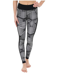 Zobha Fitted Printed Leggings W Mesh Side Panels
