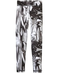 adidas Motion Bw Leggings Blackwhite Printed Small