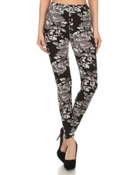No Label Floral Printed Leggings