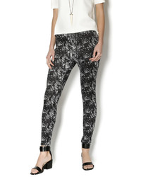 Joseph Ribkoff Print Black White Leggings