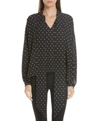Balenciaga Tie Neck Silk Blouse