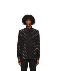 Saint Laurent Black Cross Pattern Shirt