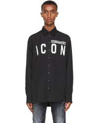 DSQUARED2 Black Icon Sport Shirt
