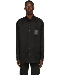 Mastermind Japan Black Satin Masterseed Shirt