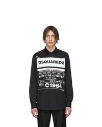 DSQUARED2 Black Stretch Poplin Shirt