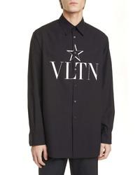 Valentino Camicia Manica Lunga Vltn Button Up Shirt