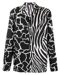 Versace Contrast Pattern Shirt