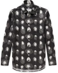 Alexander McQueen Printed Silk Twill Shirt