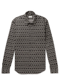 Dries Van Noten Slim Fit Printed Cotton Shirt