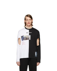 Burberry Black And White Montage Cut Out T Shirt