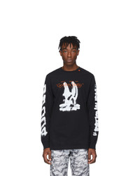 Off-White Black Cartoon Long Sleeve T Shirt