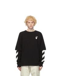 Off-White Black Cut Here Long Sleeve T Shirt