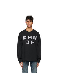 Rhude Black Haus Long Sleeve T Shirt