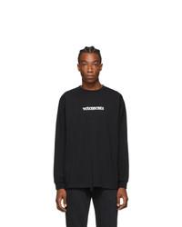 Vetements Black Logo Long Sleeve T Shirt