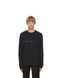 Acne Studios Black Logo Long Sleeve T Shirt