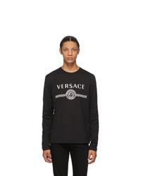 Versace Black Medusa Logo Long Sleeve T Shirt